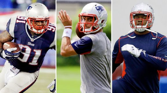 Jamie Collins, Jimmy Garoppolo, Dominique Easley
