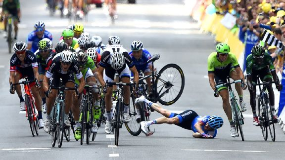 Photo: Eric Feferberg/AFP/Getty Images Andrew Talansky crashed twice in the first 10 days of the Tour de France.