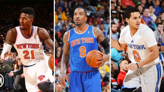 Iman Shumpert, JR Smith, Shane Larkin