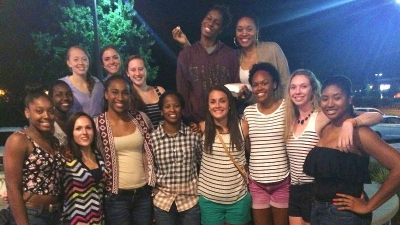 The Duke basketball team has been enjoying the more relaxed pace of summer school in Durham.