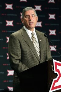 Big 12 commissioner Bob Bowlsby says too many athletes use college sports simply as a stepping stone: Getting to the next level isn't fundamentally why we're here.
