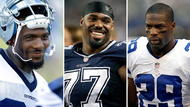 Dez Bryant, Tyron Smith, and DeMarco Murray