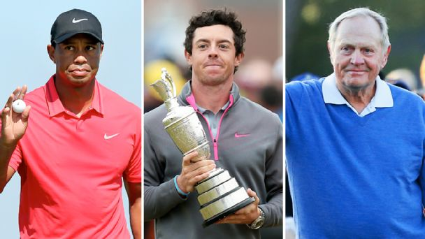 Tiger Woods, Rory McIlroy & Jack Nicklaus