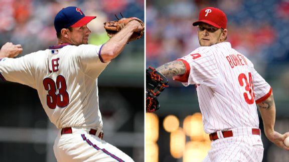 Cliff Lee and A.J. Burnett