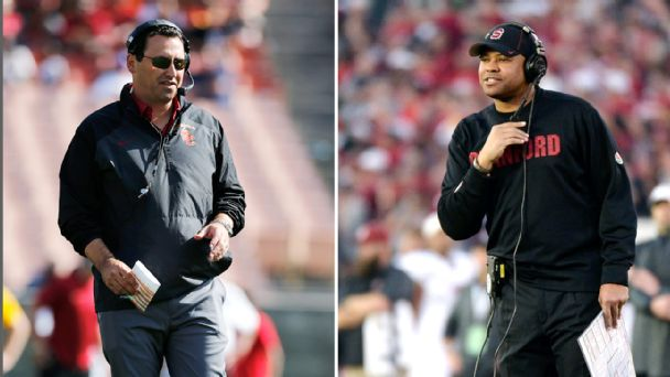 Steve Sarkisian, David Shaw
