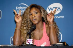 Serena Williams said sister Venus was urging her to stop playing during their doubles match at Wimbledon. Serena said she had a virus.