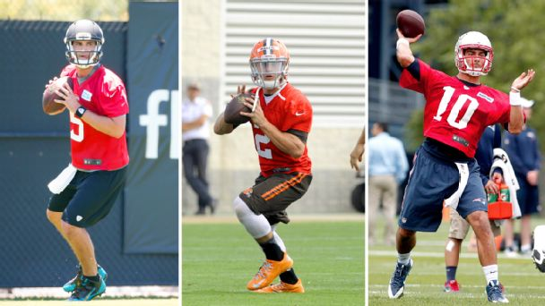 Blake Bortles, Johnny Manziel and Jimmy Garoppolo