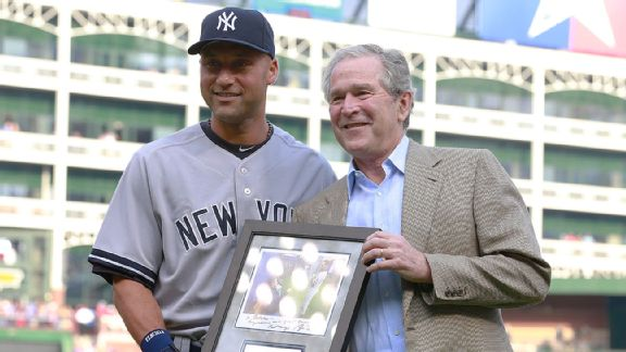 Derek Jeter, George Bush