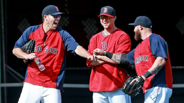 John Lackey, Jon Lester and Jonny Gomes