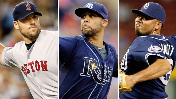 David Price, John Lackey, Joaquin Benoit