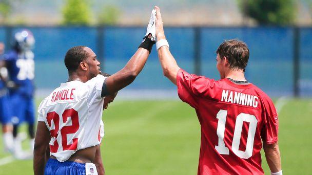 Rueben Randle and Eli Manning