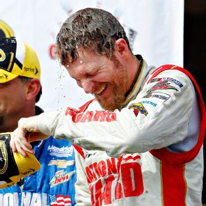 Dale Earnhardt Jr. joined Brad Keselowski and Jimmie Johnson as three-time winners in 2014.
