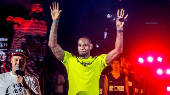 LeBron in China