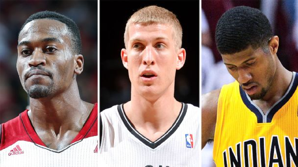 Kevin Ware, Mason Plumlee, and Paul George