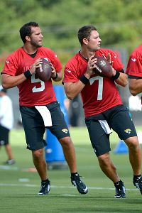 Chad Henne (7) and Blake Bortles (5)