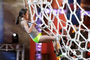 Kacy Catanzaro, climbing better than Spider-Man.