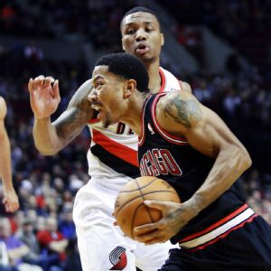 Derrick Rose and Damian Lillard
