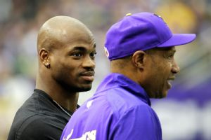 Adrian Peterson and Leslie Frazier