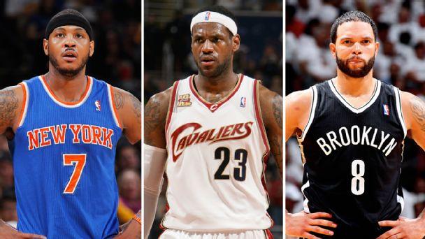 Carmelo Anthony, LeBron james & Deron Williams