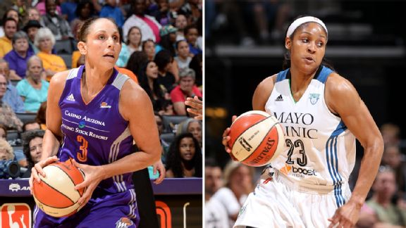 Diana Taurasi and Maya Moore