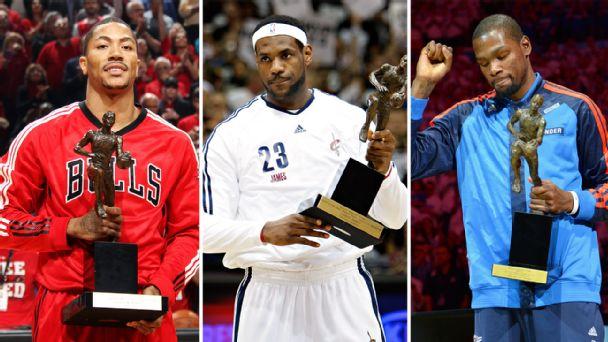 Derrick Rose, LeBron James, Kevin Durant