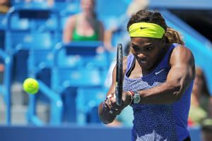 Serena Williams had seven aces en route to a 6-1, 6-3 victory over Jelena Jankovic.