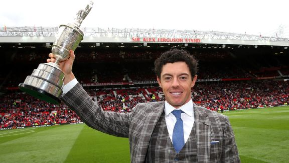 Rory McIlroy at Old Trafford