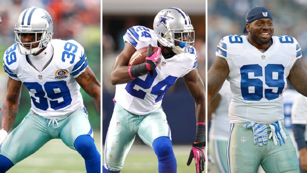 Brandon Carr, Morris Claiborne and Henry Melton