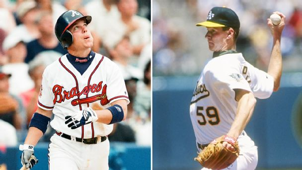 Chipper Jones and Todd Van Poppel