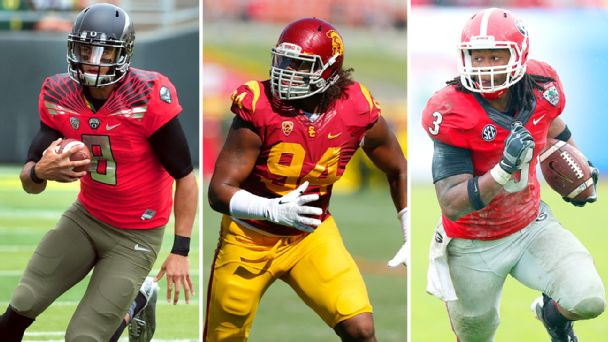Marcus Mariota, Leonard Williams and Todd Gurley
