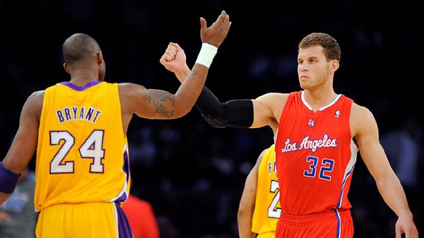Kobe Bryant and Blake Griffin