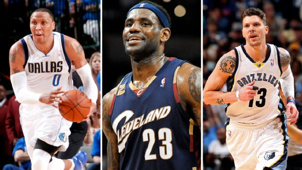 Shawn Marion, LeBron James and Mike Miller