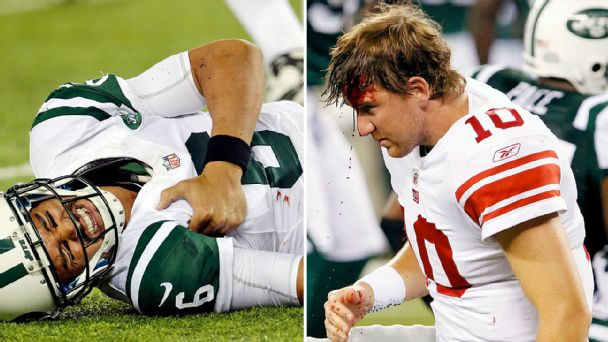 Mark Sanchez and Eli Manning