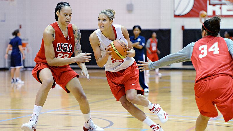 A young generation of stars is pushing to make the U.S. women's national team, led by Brittney Griner, left, and Elena Delle Donne.