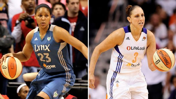 Maya Moore and Diana Taurasi