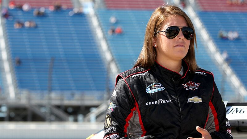 Johanna Long ran 41 Nationwide races for ML Motorsports in 2012 and 2013 but now finds herself racing Late Models in her hometown of Pensacola.
