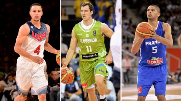 Stephen Curry, Goran Dragic, Nicolas Batum