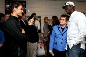 Billie Jean King, Michael Jordan and Roger Federer