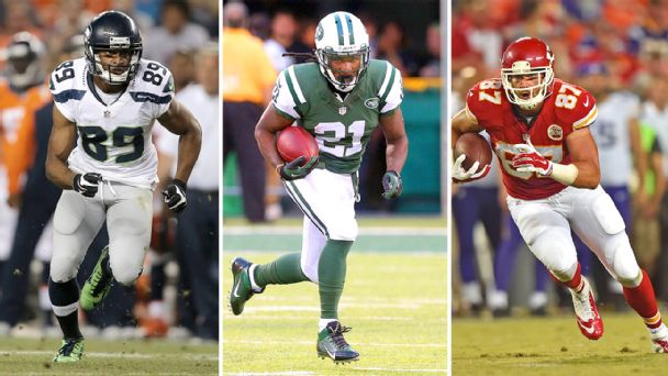 Doug Baldwin, Chris Johnson and Travis Kelce