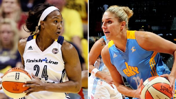 Tamika Catchings and Elena Delle Donne