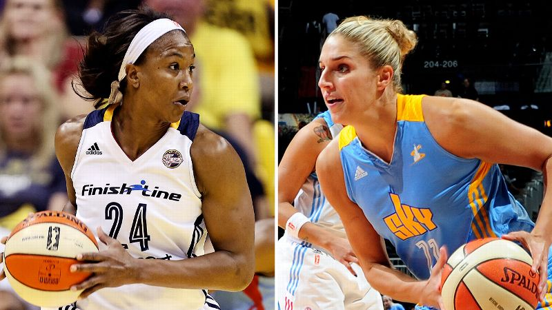 With the game on the line, the ball will be in the hands of Indiana's Tamika Catchings, left, and Chicago's Elena Delle Donne.