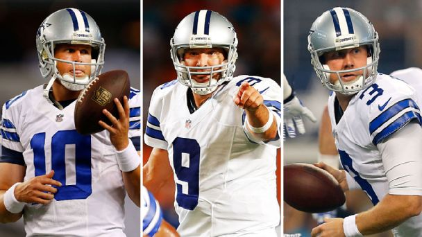 Dustin Vaughan, Tony Romo & Brandon Weeden