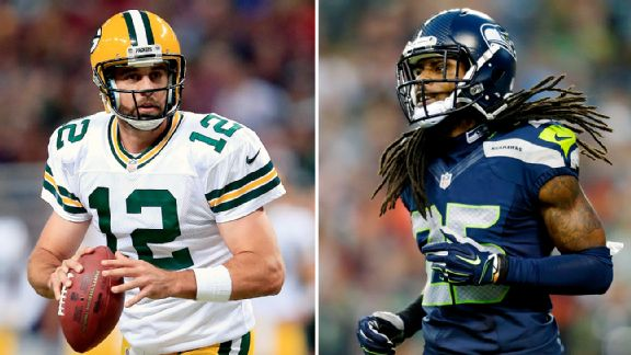 Aaron Rodgers and Richard Sherman