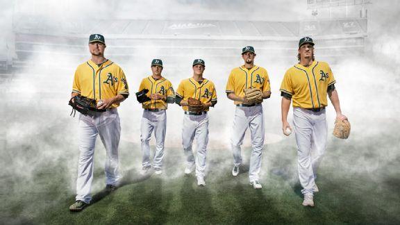 Oakland Athletics, Jon Lester, Scott Kazmir, Sonny Gray, Jason Hammel, Jeff Samardzija