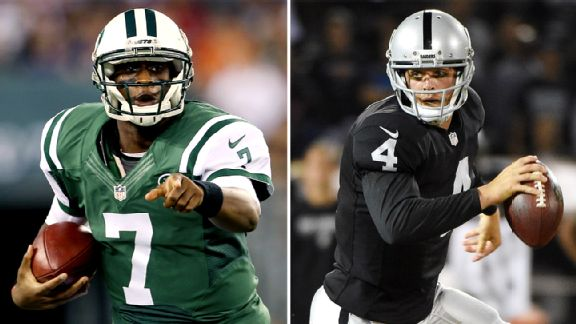 Geno Smith and Derek Carr