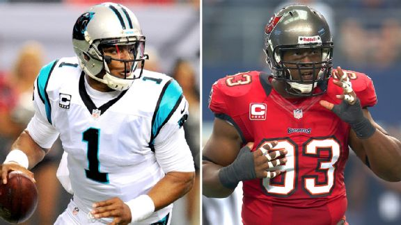 Cam Newton and Gerald McCoy