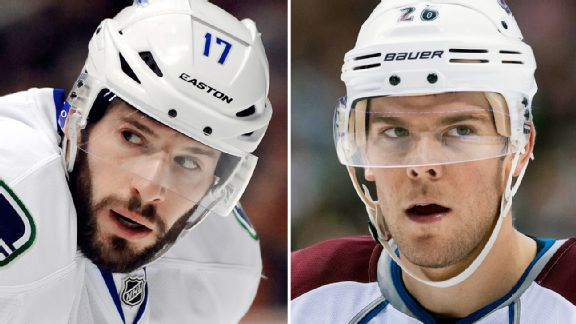 Ryan Kesler and Paul Stastny