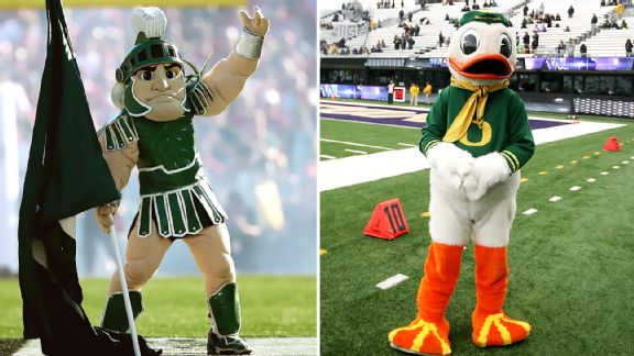 Sparty, Oregon Duck