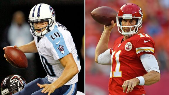 Jake Locker and Alex Smith
