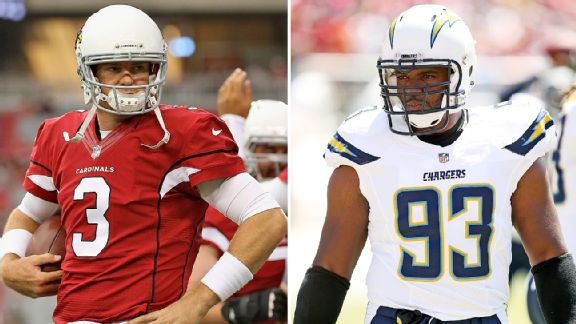 Carson Palmer and Dwight Freeney